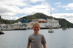 A.J. and our ferry