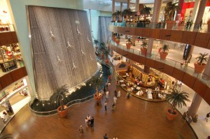 """Waterfall"" at the Mall of Dubai."