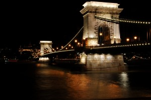 I walked to the Chain Bridge one evening.