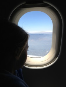 Charlie looks out in the directtion of the San Francisco airport, excited and nervous about being home!