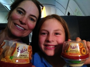 Happy to satisfy the hummus craving on the plane!