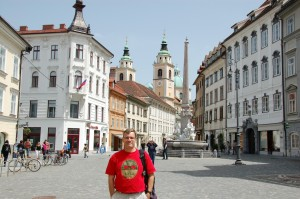 Beautiful, pedestrian-friendly Ljubljana, the capital of Slovenia