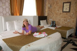 Melrose House in Pamukkale was the only round bed that we had!