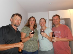 Celebrating in Auckland with the Sherrys, another family traveling RTW