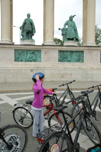 On Bikes in Budapest