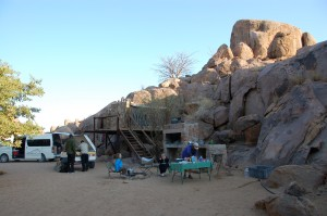 One of the nice campsites in Namibia