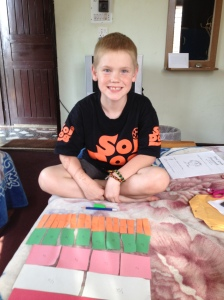 Learning fractions in Nepal