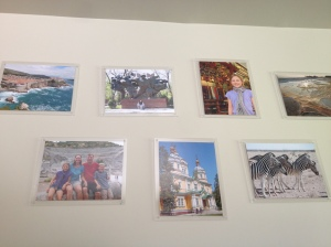 Photos on our wall