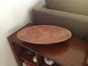 Beautiful wooden bowl in our family room