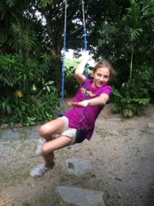 Never too old for a swing!